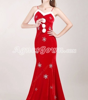 a-line, evening dress and red