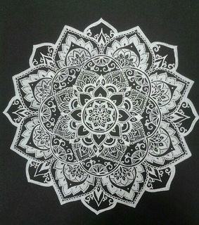 black, flower and motif