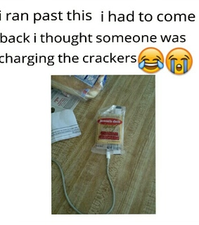 charge, crackers and funny