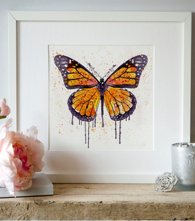 butterfly, monarch and wall art