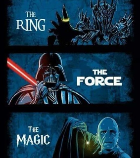 harry potter, star wars and the lord of the rings
