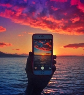 iphone, picture and sea