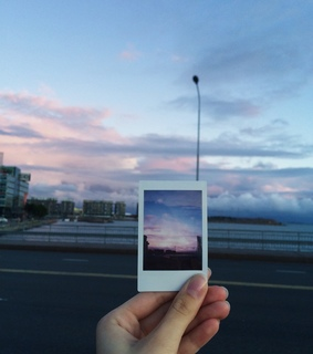 clouds, colors and disposable camera
