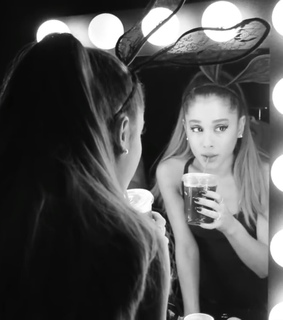 ariana grande, backstage and black and white