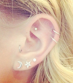 cartilage, earring and piercing