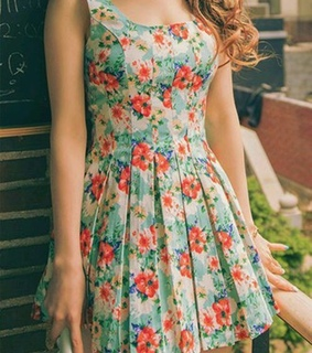 fashion, floral dresses and girl