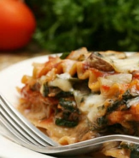 dinner, lasagna and lunch