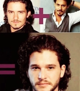 game of thrones, johnny depp and jon snow
