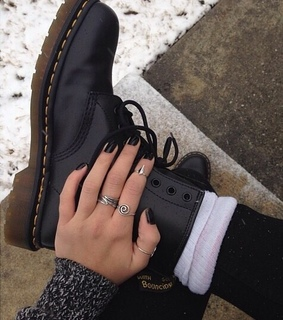 beautiful, black and boots