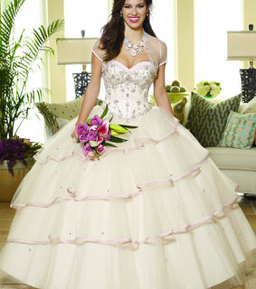 ball gown and organza
