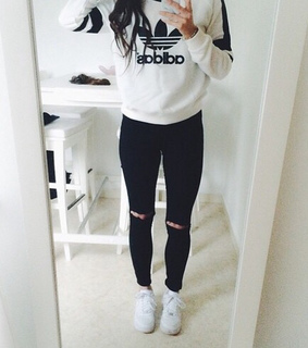 adidas, black and black and white