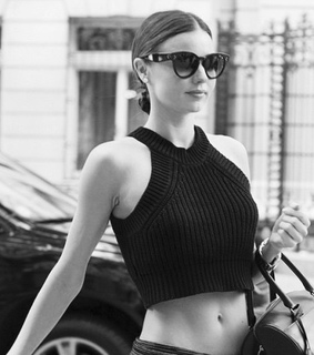 black and white, fashion and miranda kerr