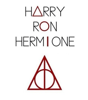 harry potter, hermoine and ron weasley