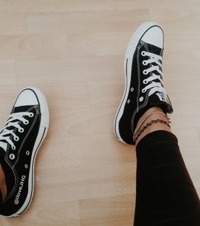 allstars, black and leather