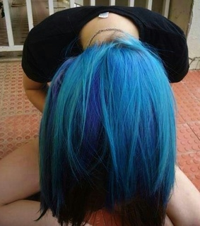 *-*, blue and girl