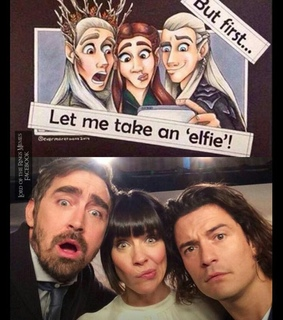 evangeline lily, lee pace and legolas