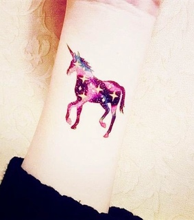 blue, horse and tattoo