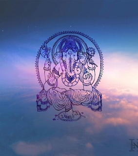 beautiful, clouds and ganesh