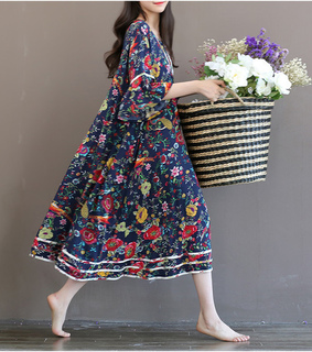 flower dress, vintage dress and women clothing