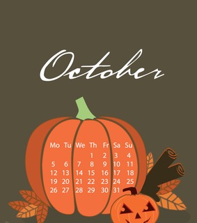 calendar, halloween and iphone