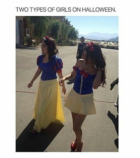 funny, girla and halloween