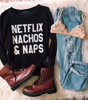 black, boots and nachos