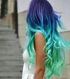 color, hair and turquesa
