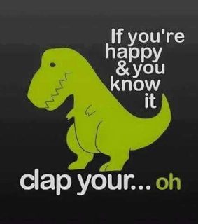 clap, funny and happy