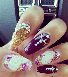 3d nails, elegance and fall
