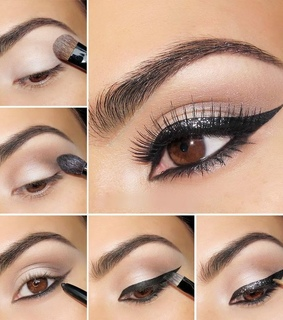 beauty, black and black eyeliner