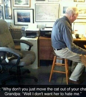 grandpa, pets and funny