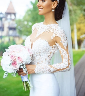 lace wedding dress, princess and wedding dress