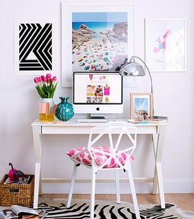 animal print, cute and home office