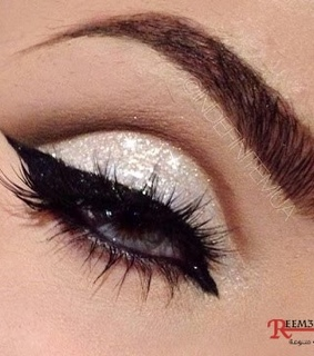 glitter, makeup and ميك اب
