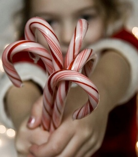 candy, candy cane and children
