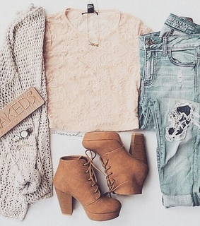 boots, cardigan and fashion