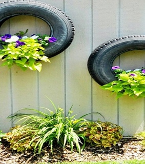 DIY Recycled Tires, Old Recycled Tires and Old Tires Uses
