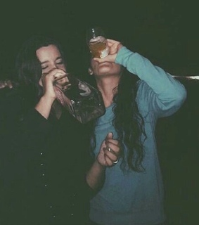 best friends, cool and drinking