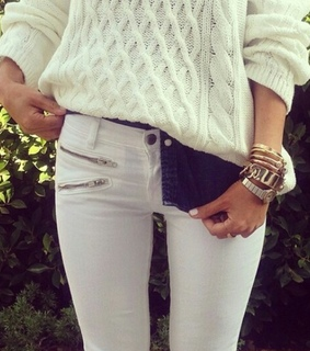 jeans, purse and sleeves