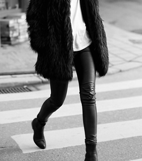 black, black & white and casual