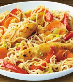 Chicken Recipes, maggi chicken noodles and maggi noodles