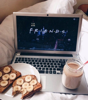 bananas, chocolate milk and friends