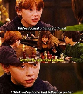 bad influence, harry potter and hermione