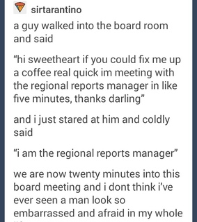 boss, coffee and embarrassing