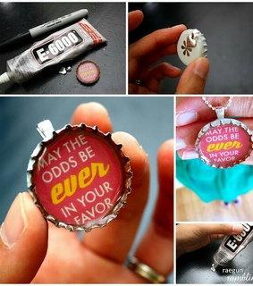 cute, diy and hunger games