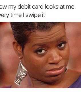 tumblr post, spending and credit card