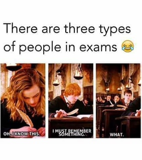 exams, funny and harry potter