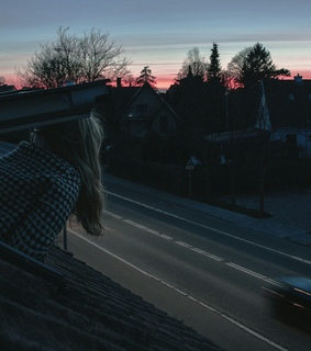 alone, blonde girl and cool places