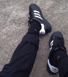 adidas, aesthetic and black