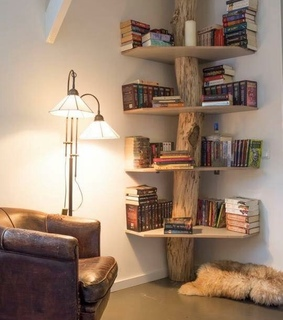books, decor and house